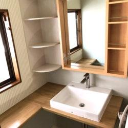 広島市安佐南区のK様邸 洗面所のリフォーム